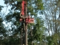 Air rotary drilling for installation of monitoring well